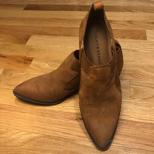 Lucky Brand Western Pointed Low Boot